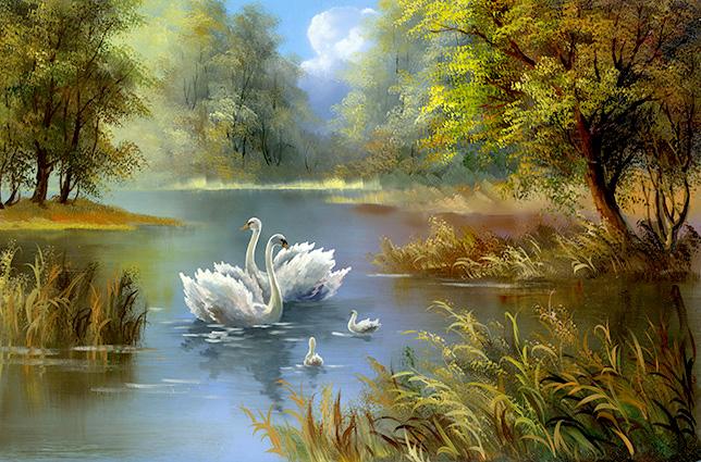 tranh sơn dầu thiên nhiên