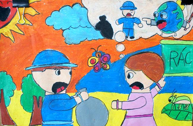 tranh vẽ bảo vệ môi trường