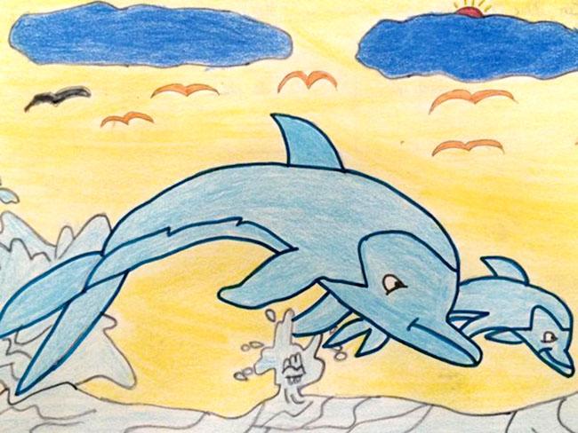 tranh vẽ biển đại dương