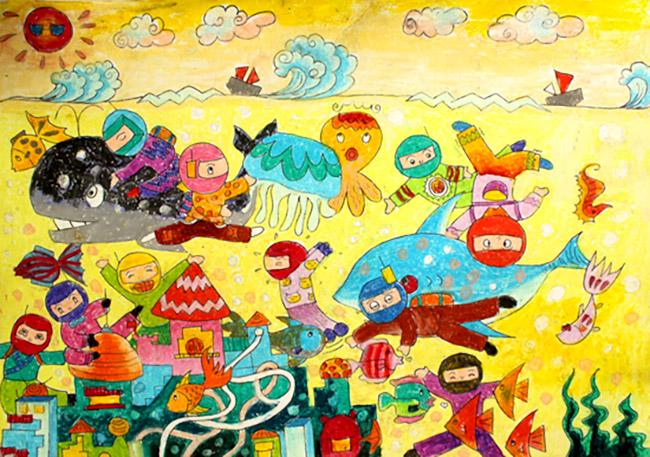 tranh vẽ khám phá biển đại dương