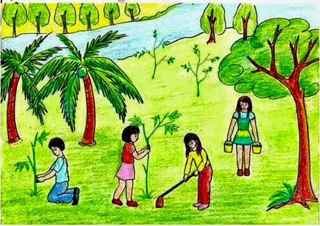 Tranh bảo vệ môi trường đẹp nhất
