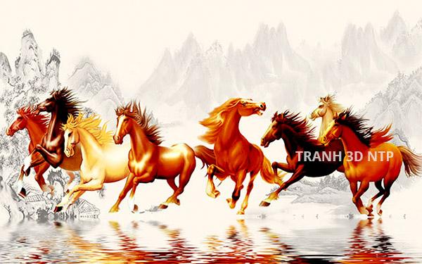 tranh mã đáo có mấy con ngựa