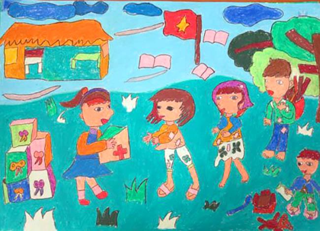 tranh vẽ ước mơ hòa bình