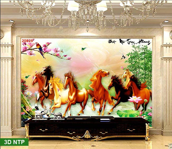 tranh ngựa mã đáo thành công phòng khách