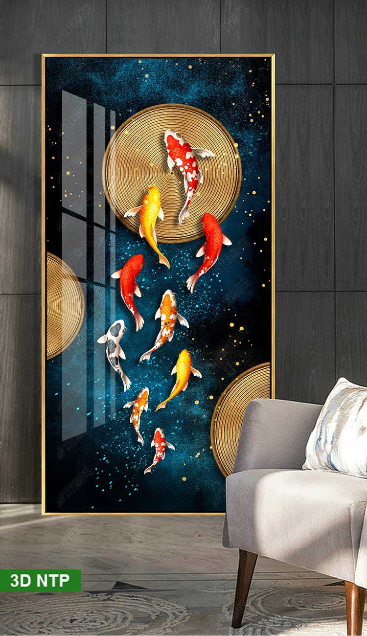 Tranh cá chép treo tường