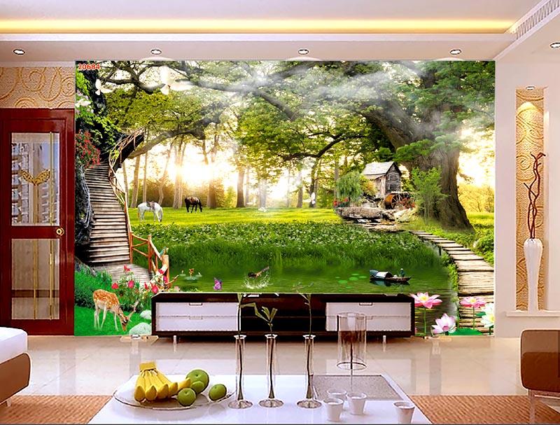 Tranh phong cảnh giúp căn phòng sinh động và đầy sức sống