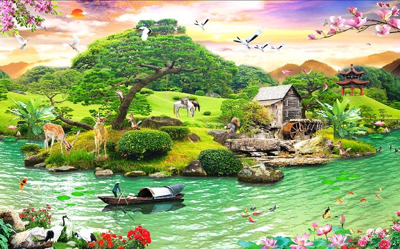 Sự mệt mỏi trong cuộc sống thường ngày sẽ dần tan đi với những bức tranh phong cảnh sống động