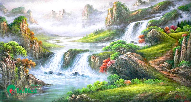 Tranh vẽ phong cảnh thiên nhiên hùng vĩ