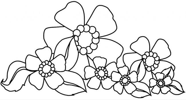 tranh tô màu hoa lá