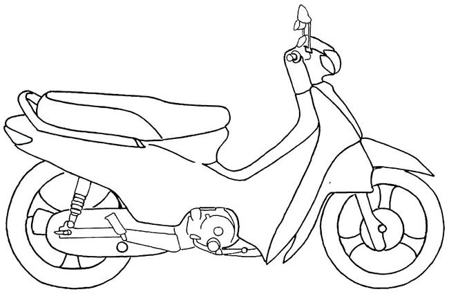 tranh tô màu xe máy