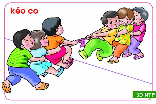 Vẽ tranh đề tài trò chơi dân gian kéo co