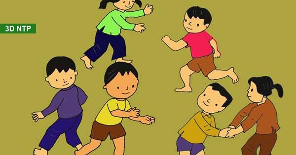 Tranh vẽ trò chơi dân gian trẻ em