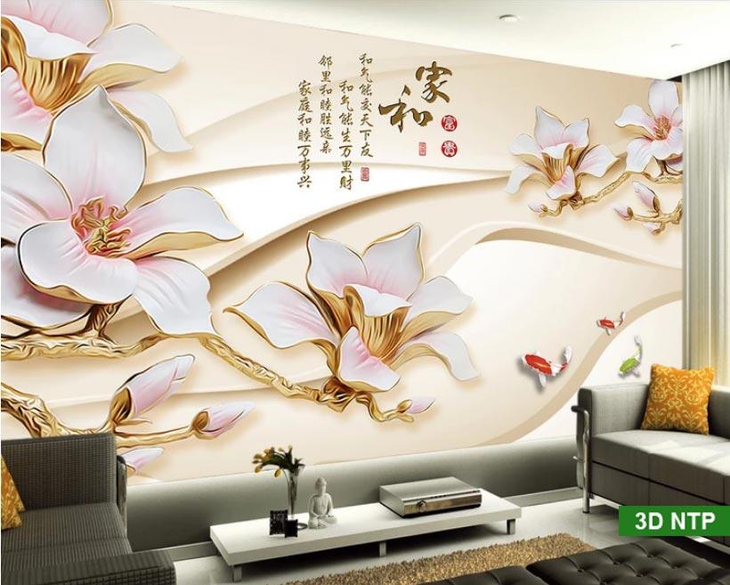 tranh dán tường phòng khách đẹp