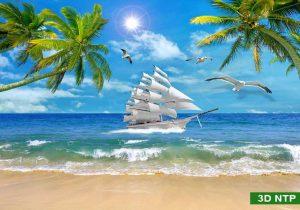 tranh dán tường cảnh biển
