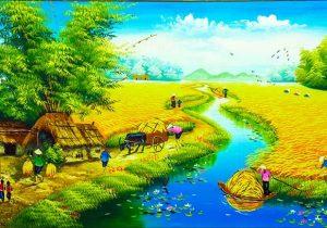 Tranh phong cảnh đồng quê Việt Nam