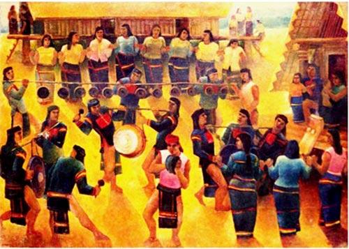 vẽ tranh đề tài lễ hội dân tộc vùng cao
