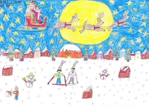 vẽ tranh đề tài lễ hội giáng sinh