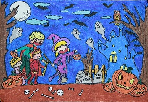 vẽ tranh đề tài lễ hội haloween