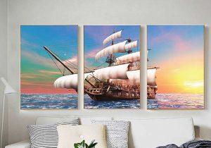 tranh vải canvas thuận buồm xuôi gió