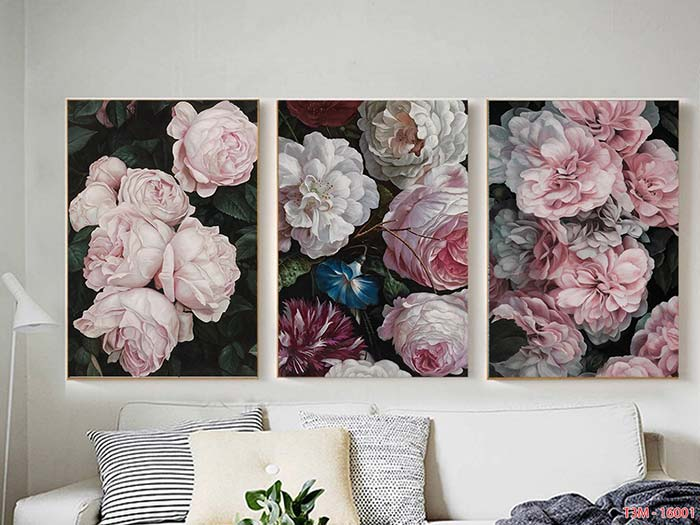 tranh canvas chủ đề hoa