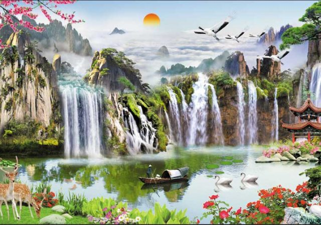 tranh sơn thủy phong cảnh