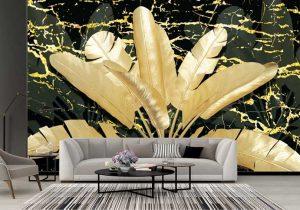 tranh phòng khách 3D dán tường