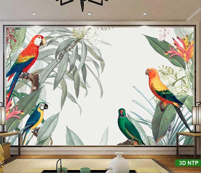 tranh 3d dán tường phòng khách