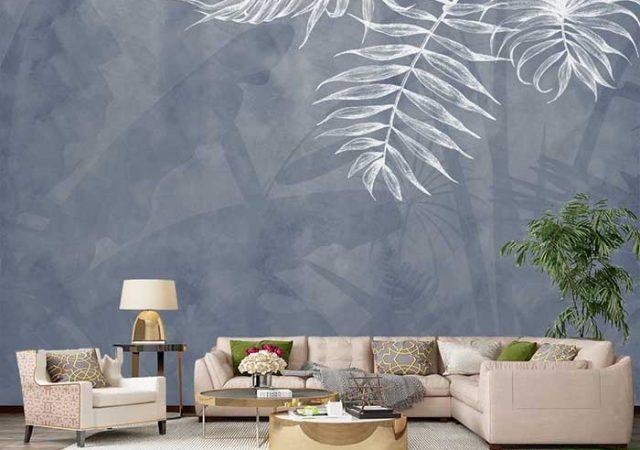 Tranh dán tường phòng khách 3D