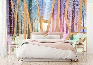 Tranh dán tường phòng ngủ hiện đại
