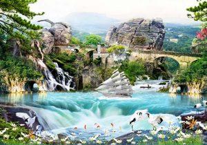tranh sơn thủy phong cảnh đẹp nhất