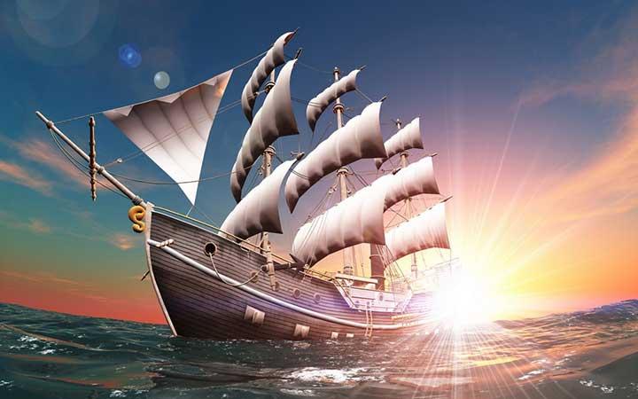 Tranh thuận buồm xuôi gió phòng khách
