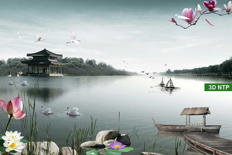Những mẫu tranh phong cảnh sơn thủy hữu tình đẹp nhất