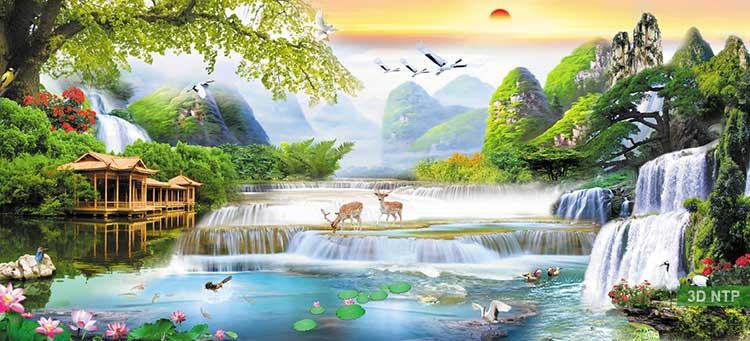 Những mẫu tranh phong cảnh sơn thủy đẹp nhất