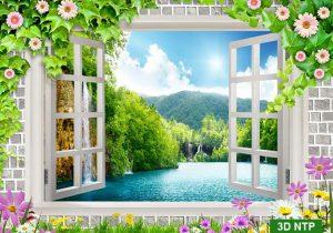 tranh trang trí cửa sổ