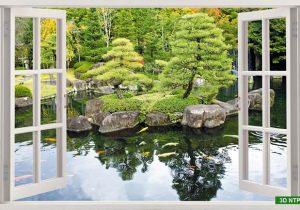 Tranh cửa sổ phong cảnh