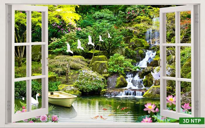 Tranh cửa sổ dán tường