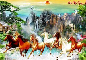 Tranh ngựa phi nước đại