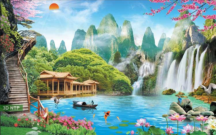 Tranh phong cảnh sơn thủy hữu tình