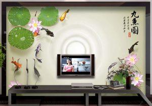Tranh dán tường 3D phòng khách