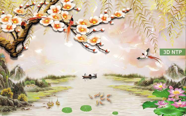 Tranh phong cảnh sơn thủy hữu tình 3D