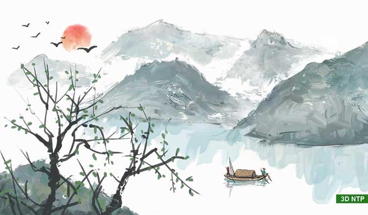 Vẽ tranh sơn thủy phong cảnh