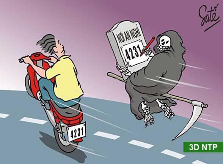 Tranh biếm họa khi tham gia giao thông