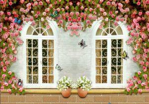 Tranh dán tường cửa sổ