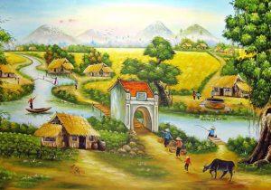 Tranh đồng quê Việt Nam