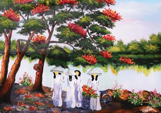 tranh đồng quê Việt Nam đẹp nhất