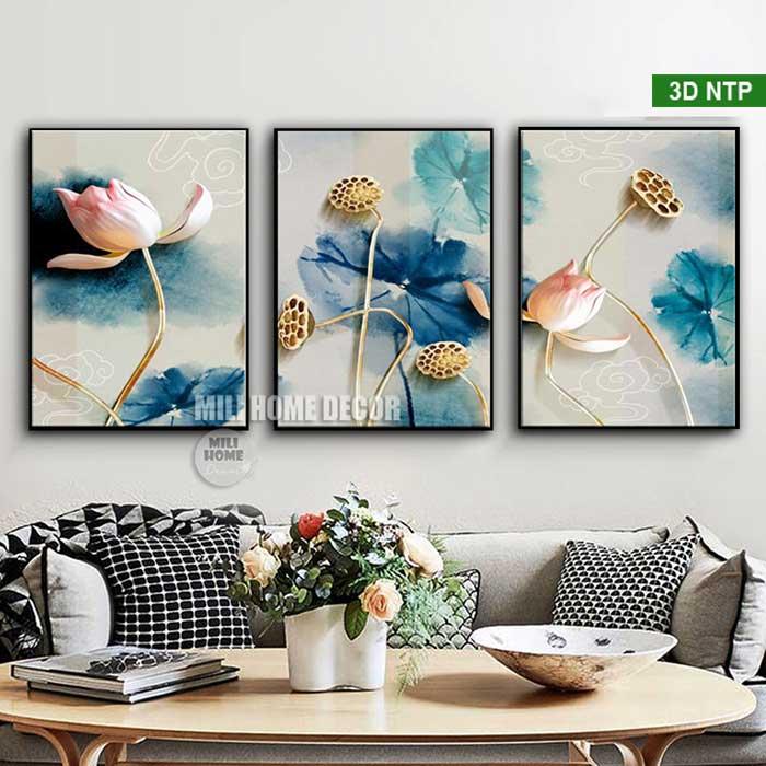 Tranh hoa sen canvas