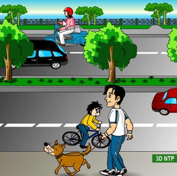 Tranh vẽ an toàn khi tham gia giao thông