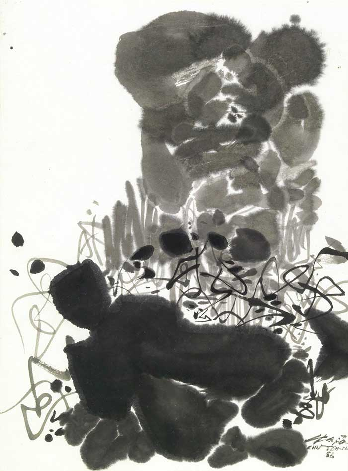 Tranh trừu tượng đen trắng