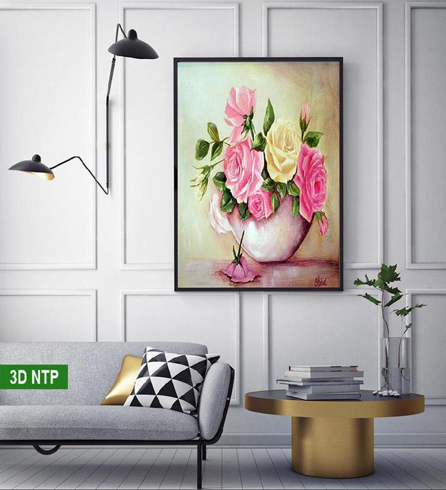 Tranh canvas điểm nhấn đặc biệt cho phòng khách